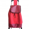 กระเป๋าล้อลากพร้อมเก้าอี้ ลายทาง-สีแดง