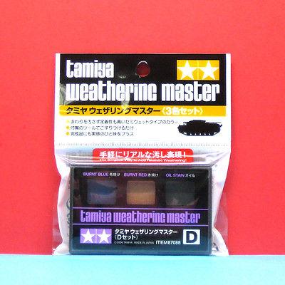 Weathering Master D Set (D burnt blue / burnt red / oil stain)