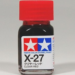 80027 Enamel X27 clear red
