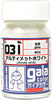 gaia 031 Ultimate White (gloss) 15ml.