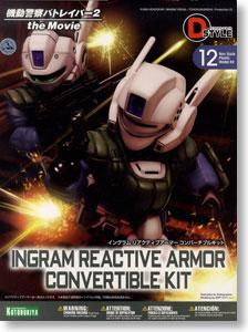 (มี1รอเมล2ยืนยัน ก่อนโอน) 12 D-Style Ingram Reactive Armor Convertible Kit (Plastic model)
