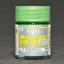 GX-211 Mr.metalic GX yellow green 18ml.