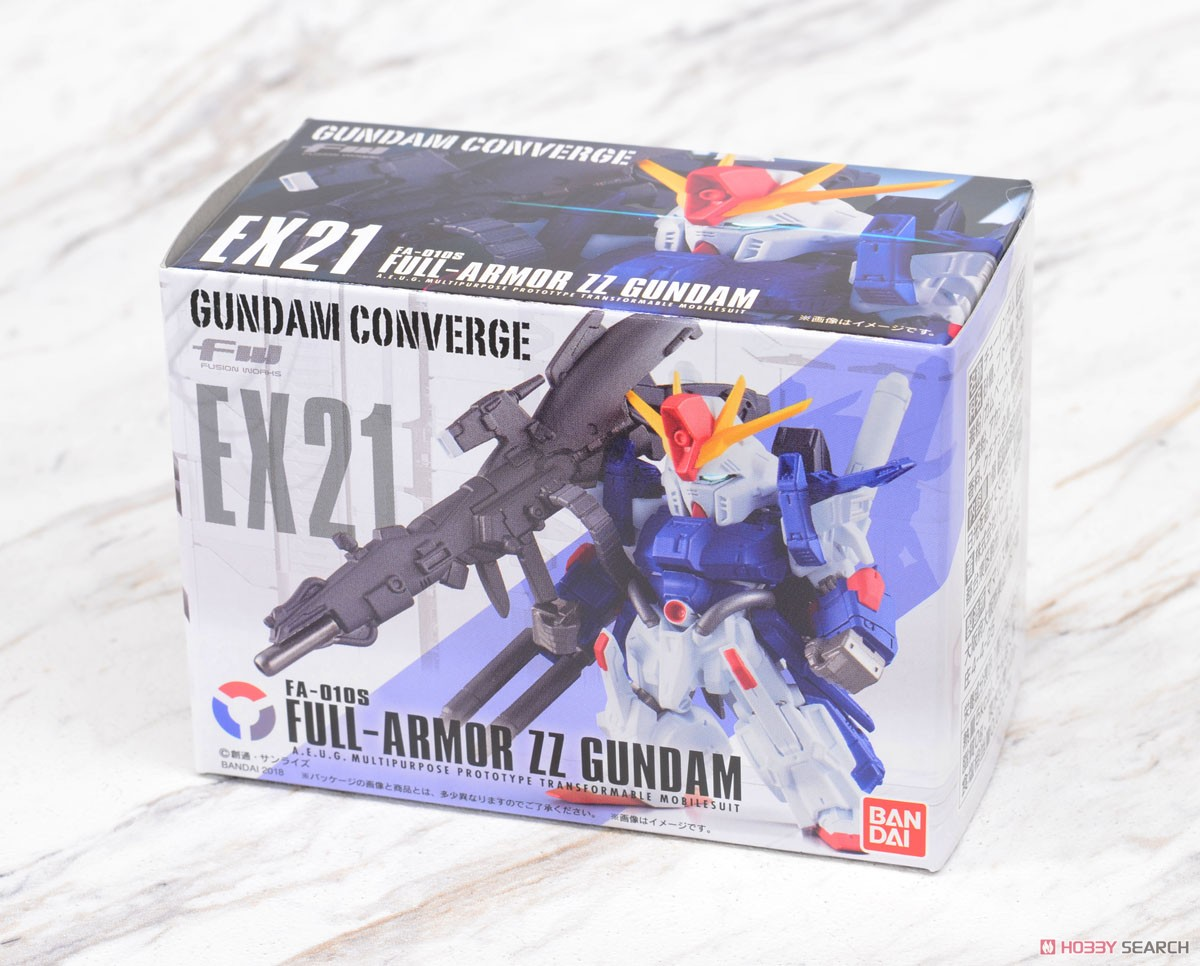 FW GUNDAM CONVERGE EX21 FULL ARMOR ZZ GUNDAM W/O GUM
