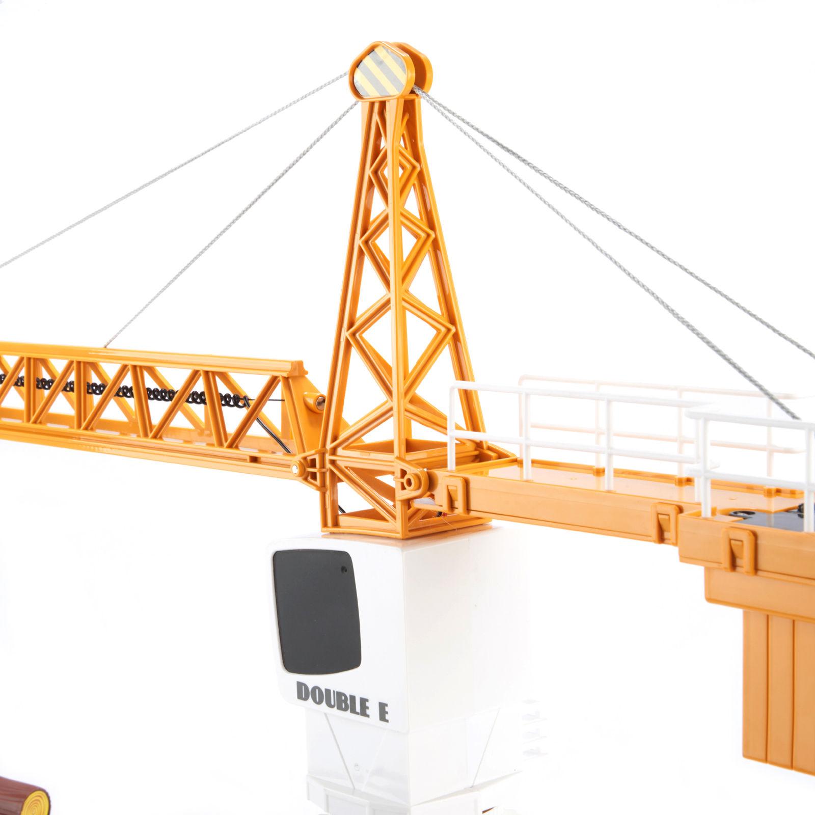 มี1 รอยืนยันก่อนโอน 1/20 DoubleE 2.4G Simulation Remote Control RC Tower Slewing Crane