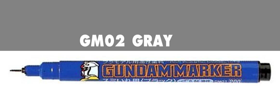 gm02 gundam marker gray ( หัวเข็ม สีเทา )
