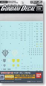 Gundam Decal (MG) for YMS-15 Gyan (Gundam Model Kits)