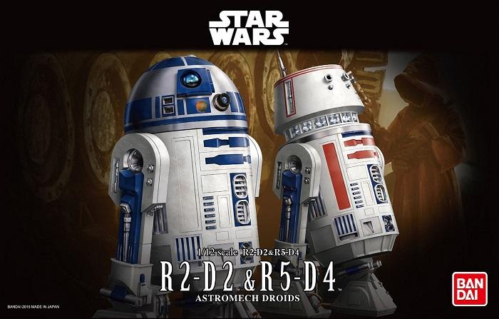 1/12 R2-D2&R5-D4 2400yen (โมประกอบ)