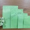 ซองฟอยล์ซิปล็อค สีเขียวด้าน (Matte Foil Flat Pouch with Zipper - Green)