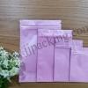ซองฟอยล์ซิปล็อค สีชมพูเงา (Glossy Foil Flat Pouch with Zipper - Pink)