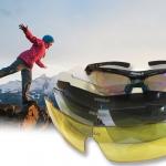 แว่นตาจักรยาน SQUALO (clip lens สายตา + เลนส์ 5 สี)