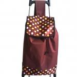 กระเป๋าล้อลากพร้อมเก้าอี้ ลายจุด-สีน้ำตาล