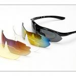 แว่นตาจักรยาน (clip lens สายตา + เลนส์ 5 สี)
