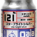 gaia 121 Star bright Silver (metallic) 15ml.