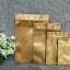 ซองฟอยล์ซิปล็อค สีทองด้าน (Matte Foil Flat Pouch with Zipper - Gold) thumbnail 1