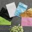 ซองฟอยล์ซิปล็อค สีฟ้าเงา (Glossy Foil Flat Pouch with Zipper - Tiffany Blue) thumbnail 2