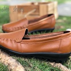 รองเท้าหนังนิ่มรหัส 609 สีน้ำตาล Size 42