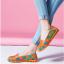 SK02 รองเท้าหนังนิ่ม (หนังวัว) ลายดอกไม้ใหญ่ Size 38